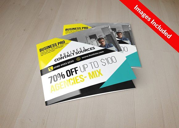 Square Trifold Brochure Templates by Business Flyers on - flyers and brochures templates