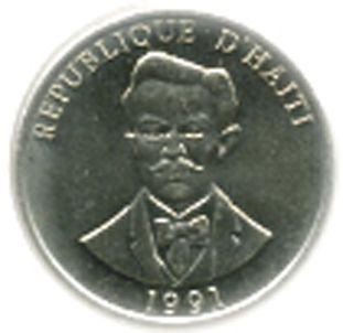 20 Centimes #Haiti - 1986-1991 Guillaume Geffrard presidente della Nazione dal 1859 al 1867.
