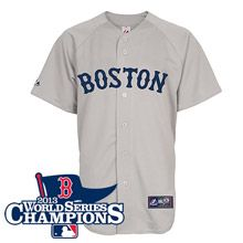 Boston Red Sox Replica Road Jersey w/2013 World Series Champions Team Patch