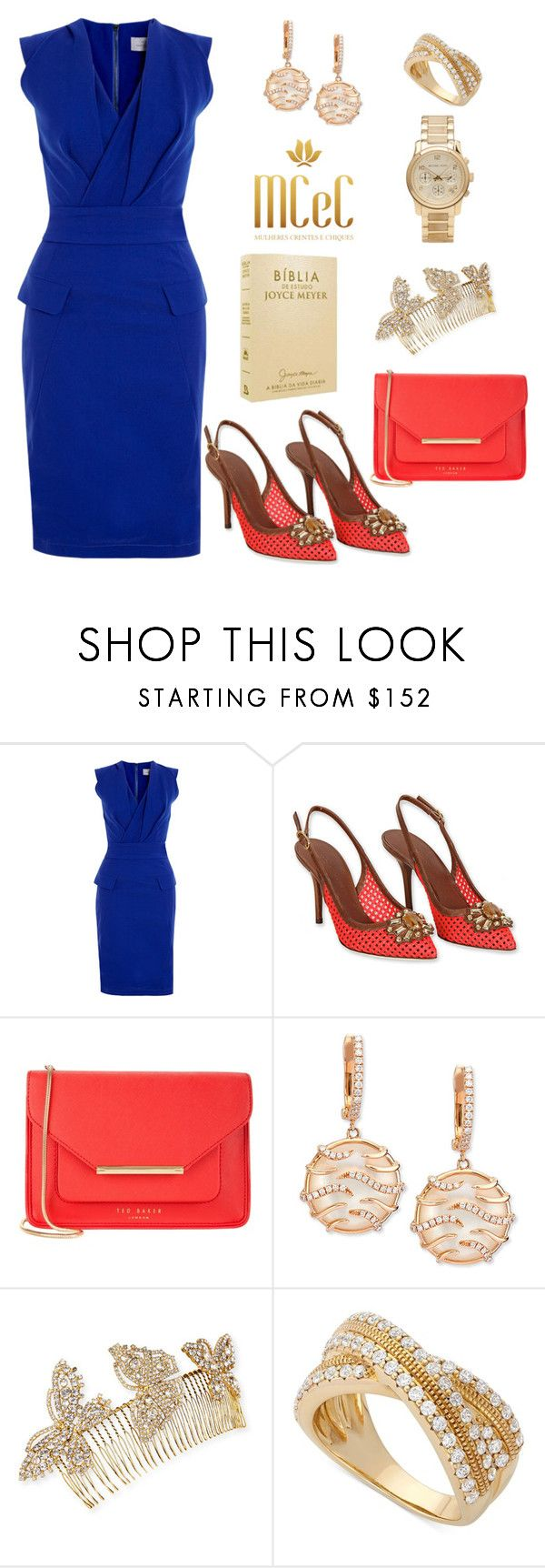 """""""Look #181"""" by mulherescrentesechiques on Polyvore featuring moda, Preen, Dolce&Gabbana, Ted Baker, Frederic Sage, Jennifer Behr, Wrapped In Love e Michael Kors"""