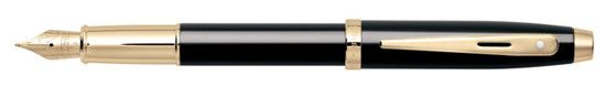 Sheaffer 100 Gift Collection Black - Gold Trim Medium Pt Fountain Pen
