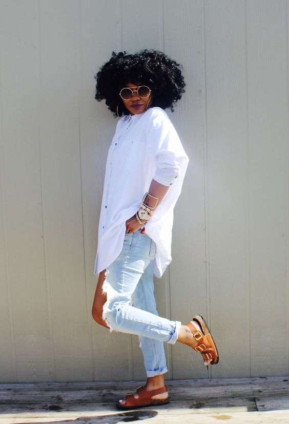 Fashion casual look for black girls. Check out store to find out your fav. You won't regret it! #brazilianhair #malaysianhair #indianhair #peruvianhai…