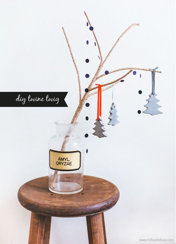 Make It: Simple DIY Tabletop Twine-Wrapped Tree » Curbly | DIY Design Community