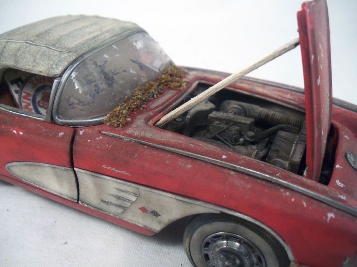 1953 Chevy Corvette Franklin Mint Barn Find Weathered 1 24 Custom Diecast OOAK TheFranklinMint 1953ChevyCorvette