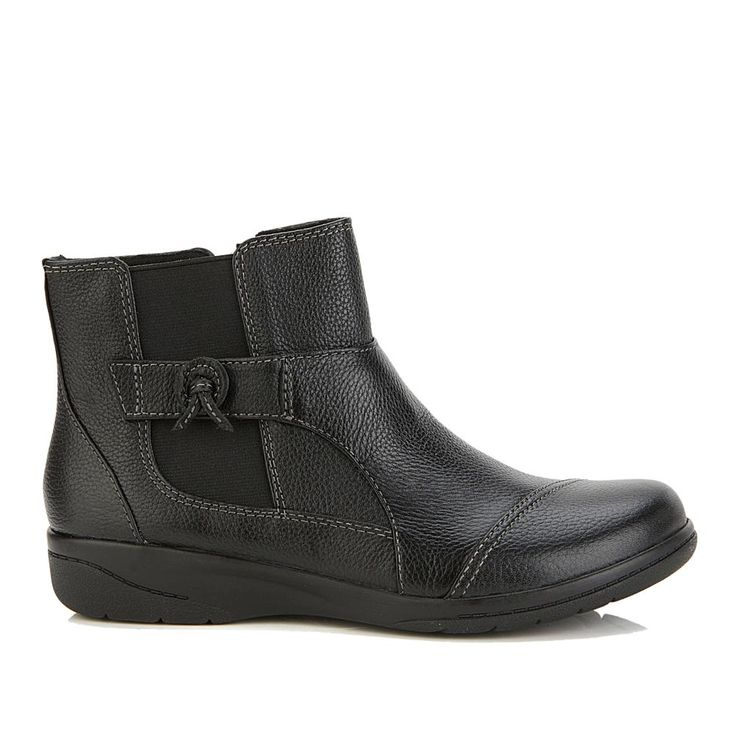 Collection By Clarks Cheyn Work Ankle Boot Black Clarks Ankle