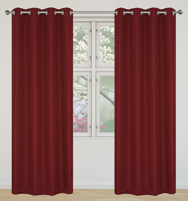 Eclipse  Room Darkening and Insulating Grommet Curtain Panel Set