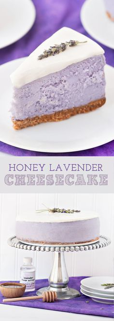 Honey Lavender Cheesecake | Cake And Food Recipe