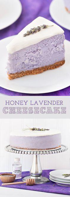 Honey Lavender Cheesecake | Cake And Food Recipe