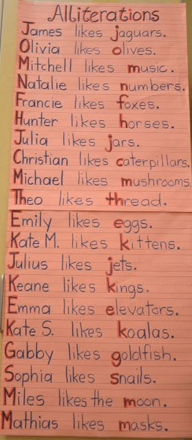 Writing Workshop - Alliterations. This can be used to point out common and proper nouns, capital letters, uppercase and lowercase alphabet letters ...