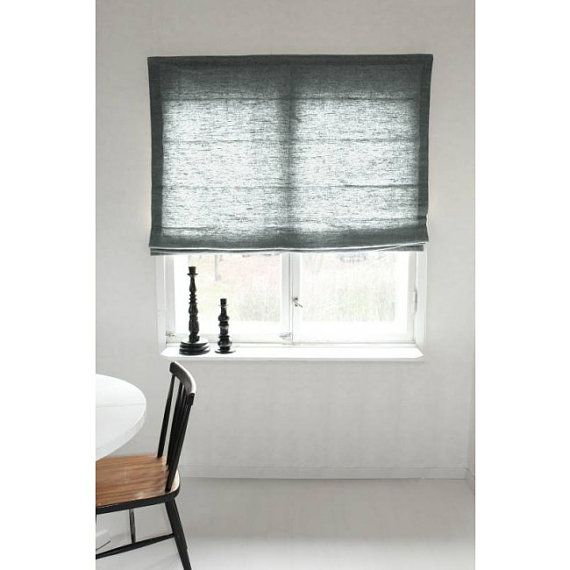 Light Grey- Roman Blind- Bespoke Blind- Linen Blind- Custom Made Blind- Grey Roman Blind- Plain Grey Blind- Made to Measure- Roman Shade