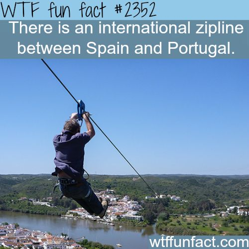 Zip line from Spain to Portugal #adventure #travel #adventure_travel