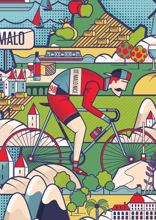 Type & Color n°1: 15 poster e illustrazioni di bici e ciclismo