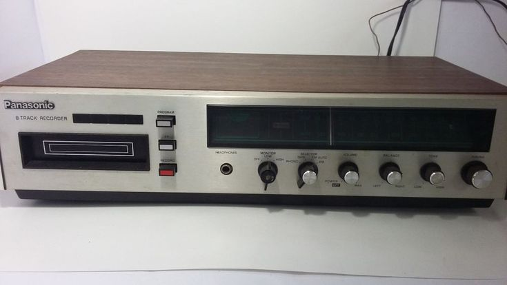 Vintage Panasonic RS-8175 8-Track Recording Deck with Recordable Cassettes Works #Panasonic