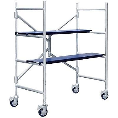 Multipurpose Scaffolding Mini Scaffold Step Ladder Push Cart Work Table Platform