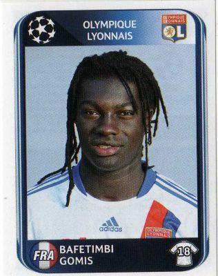 LYON - Bafetimbi Gomis 88 PANINI UEFA Champions League 2010-2011 Football Sticker