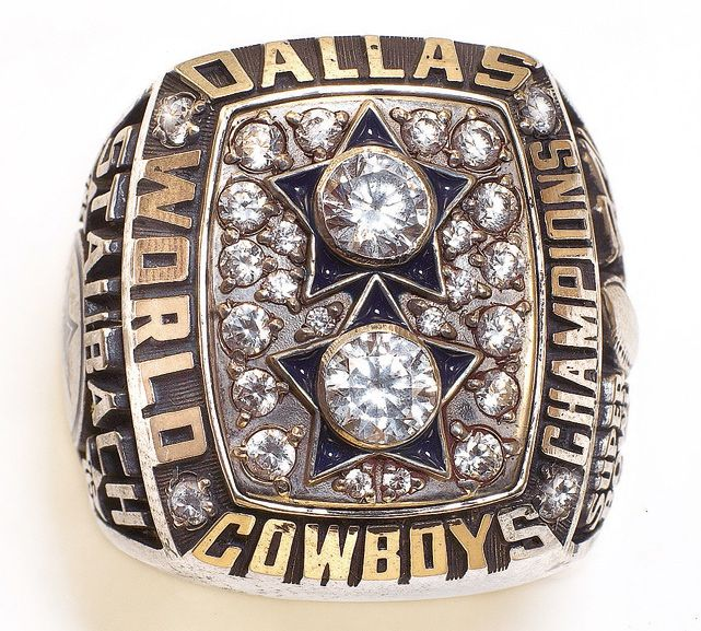 Super Bowl XII World Championship Ring worn by the victorious Dallas Cowboys