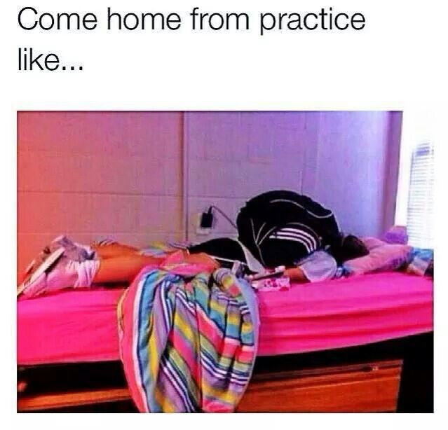 this is srsly me when I come back from volleyball, basketball, or track practice all.the.time.