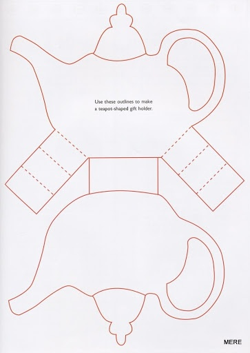 Cute teapot template