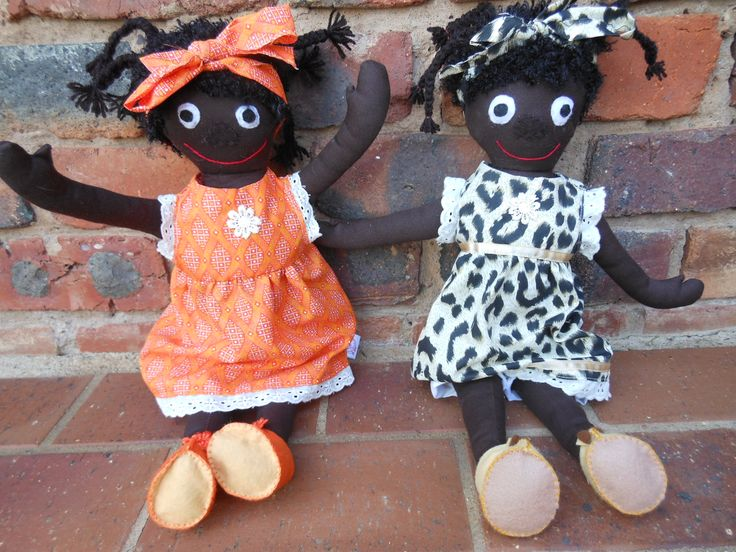 These Mbali dolls have head scarves.