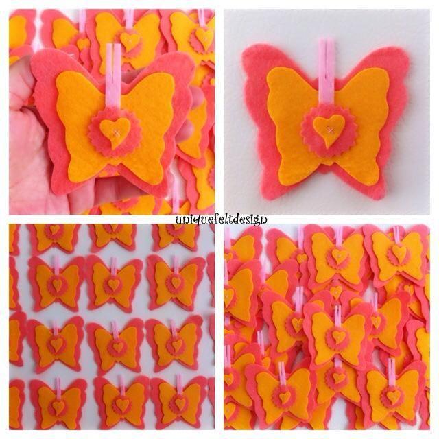 Felt Butterfly Keçe Kelebekler https://www.facebook.com/pages/Uniquefeltdesign/1432295100315576