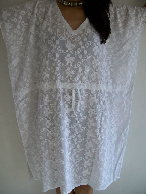 Flawless Kaftan in whitePerfect gift for her by JustCottons, $30.00