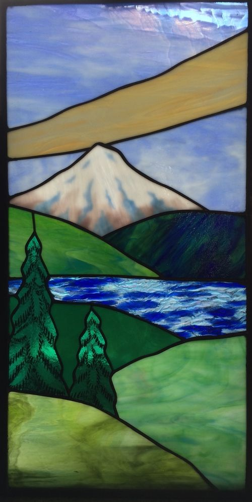 146 Best Images About Stained Glass Landscapes On