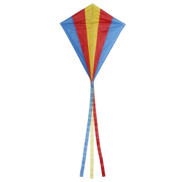 Weifang New Sky Rainbow Colors and Delta Shape 42 Inch Wide Polyester Material Includes Line and Handle Weifang New Sky Kites