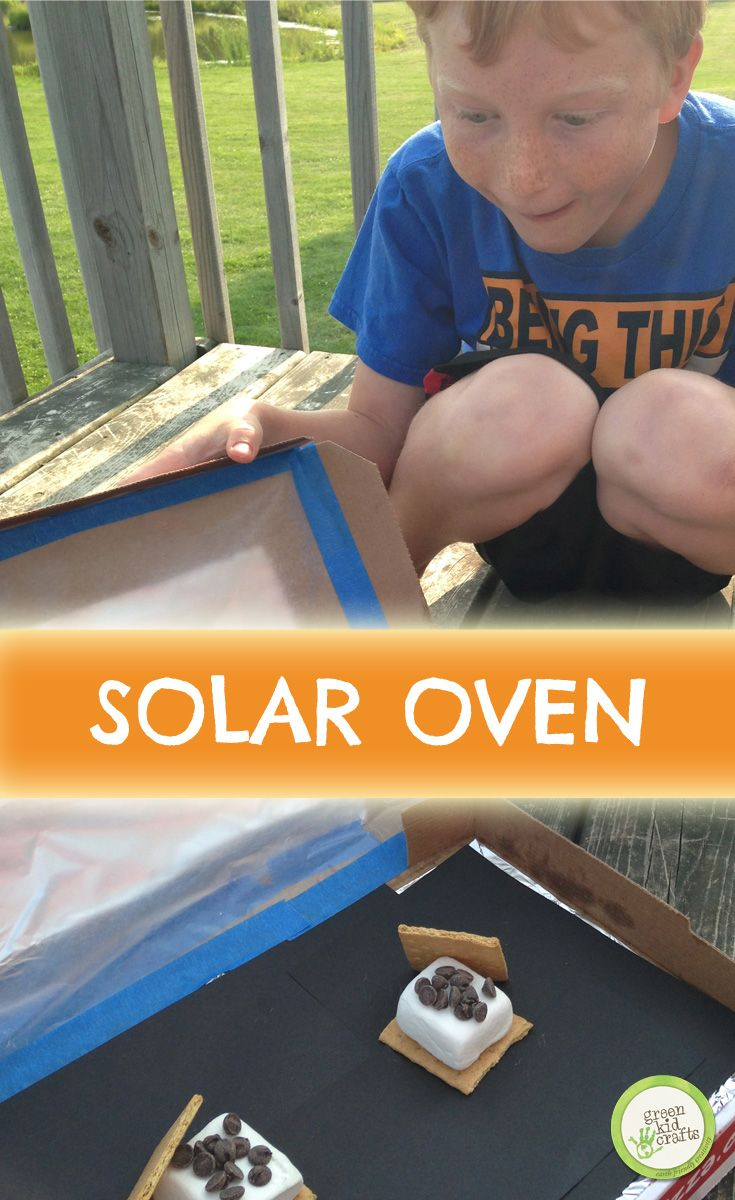 An easy solar oven that will let you catch enough backyard rays to cook the coolest s'mores on the block. http://www.greenkidcrafts.com/solar-smores/