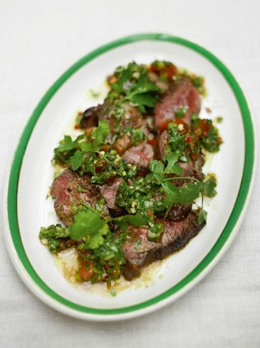 Steak & Salsa Verde - verde was GREAT with grilled steak!