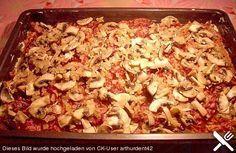 Kloßteig - Pizza mit Speckauflage