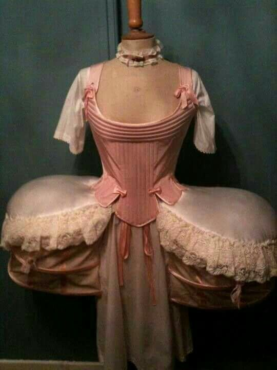 I always wondered how southern ladies made their dresses flare out just below the waist.  Now I know.  How burdensome it must have been to wear this thing.