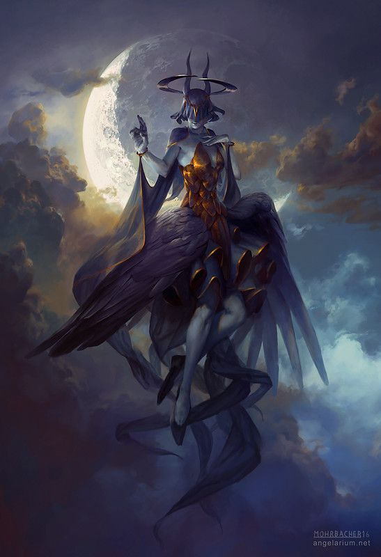 "spassundspiele: "" Leliel, Angel of Night – fantasy concept by Peter Mohrbacher """
