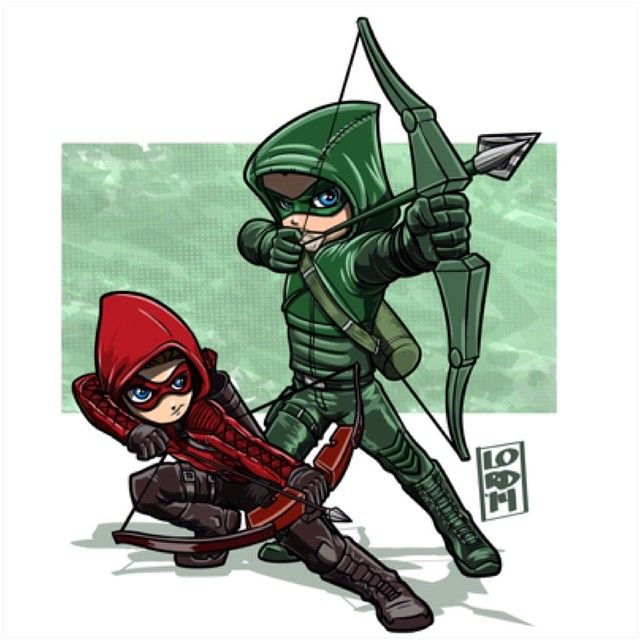 Oliver and Roy are Green and Red Arrow fanart by lordmesa-art