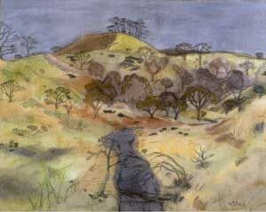 'A Wooded Glen, Winter', by William George Gillies