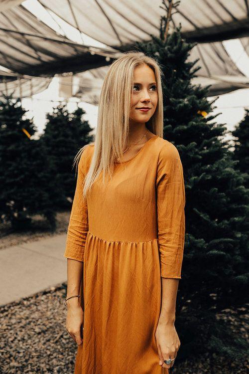 Orange Dress for Holidays | ROOLEE