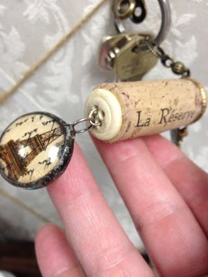 Sunday View: Wine Cork Key Chain