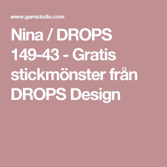 Nina / DROPS 149-43 - Gratis stickmönster från DROPS Design
