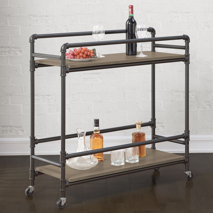 Bentley Industrial Metal And Wood Wheeled Kitchen Serving: Best 25+ Industrial Bar Cart Ideas On Pinterest