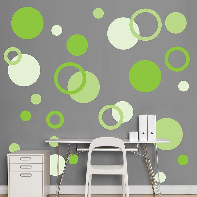 I loooove the bright green with the grey here!