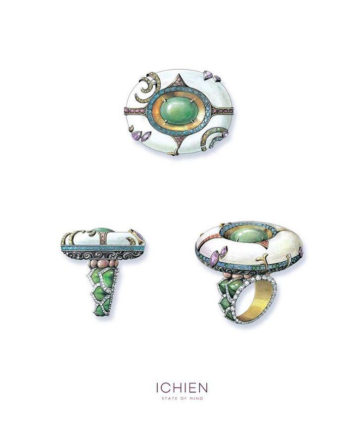 "ICHIEN - Эскиз кольца ""Камала"" / Kamala ring sketch"