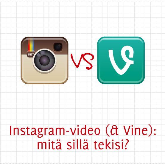 Instagram-video (& Vine): mitä sillä tekisi?