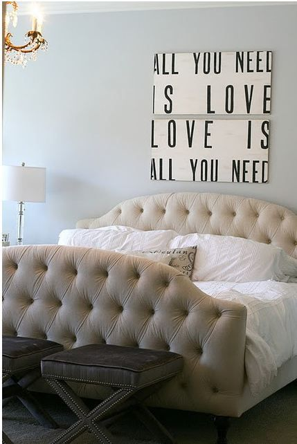 love. This bed looks so inviting! (so all you need is love and a super comfy bed!)
