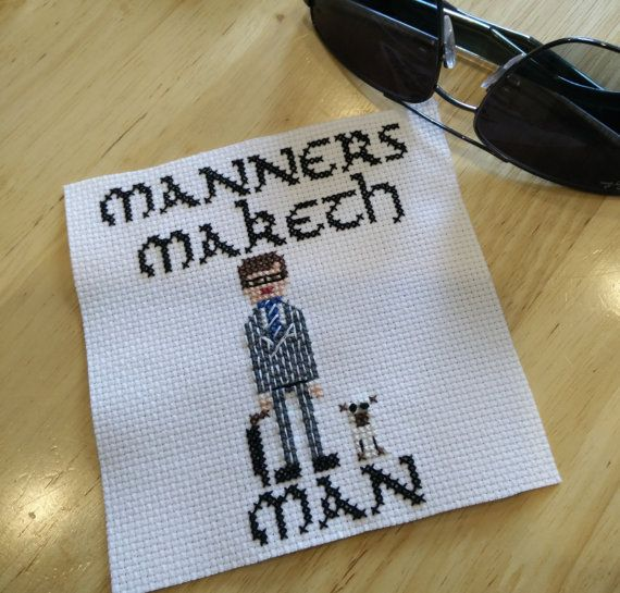 Manners Maketh Man   Kingsman movie Counted by LahLahCreations
