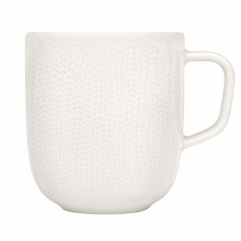 "Adorned with a subtle ""braid"" pattern, inspired by traditional textiles in Finland. ittala Sarajaton Letti White Mug - $18"