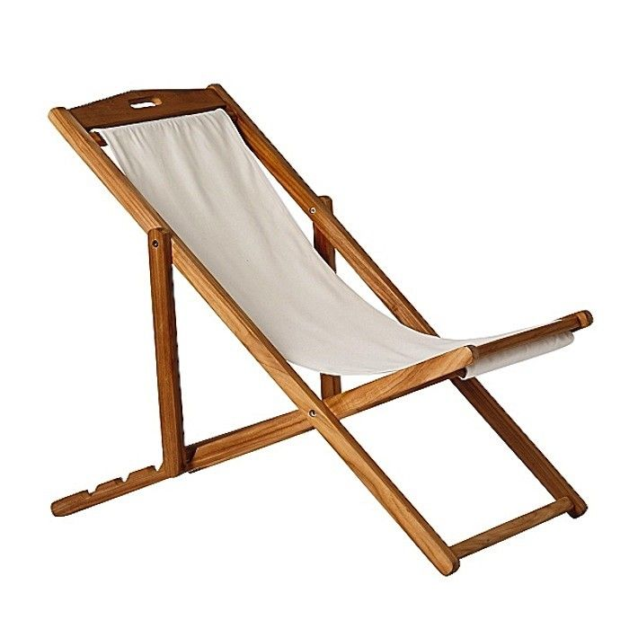 Canvas Beach Lounge Chair Sling Via Gardenista