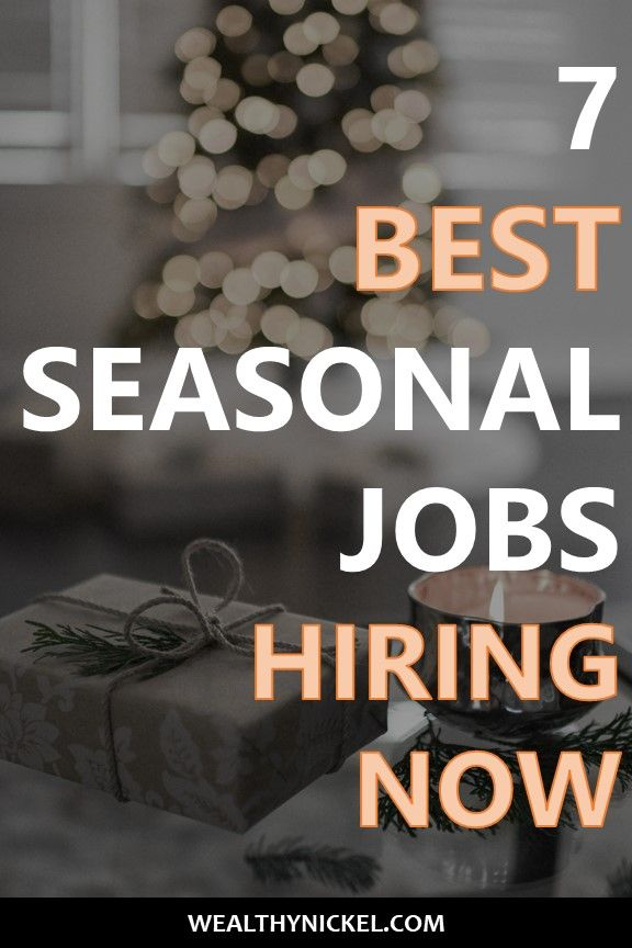 Holiday Jobs For Students Find The Perfect Seasonal Job Wealthy Nickel Seasonal Jobs Holiday Jobs Work From Home Jobs