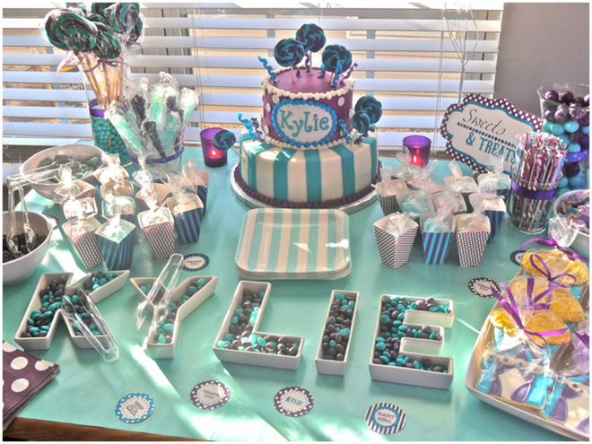 Purple + Aqua Carnival Baby Shower
