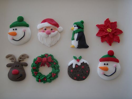 Mossy's masterpiece - Christmas cupcake toppers