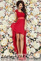 Вечернее платье в греческом стиле Ольвия красное 4741