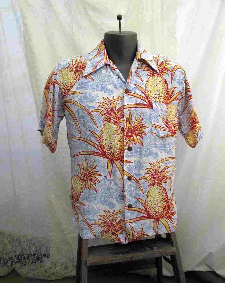 Vintage 40s Rayon Hawaiian shirt Surfriders shirt 1940s Rayon Pineapples Farm Truck Vintage Tiki Shirt 1940s Hawaiian shirt M by funkomavintage on Etsy https://www.etsy.com/listing/263248251/vintage-40s-rayon-hawaiian-shirt